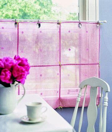 cortina delicada e curta