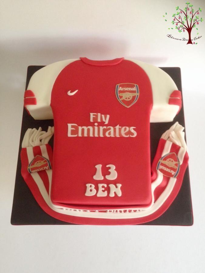 Arsenal Shirt - Cake by Blossom Dream Cakes - Angela Morris