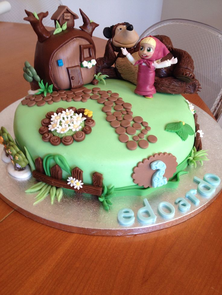 Masha And The Bear Cake 2nd Bday Masha Y El Oso Torta