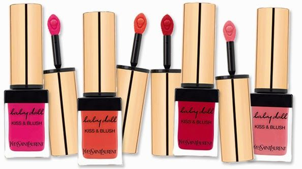 The new dual-purpose Baby Doll Kiss & Blush cremes from YSL don't hit counters. They are creme stain products that can be used on both the lips and cheeks. Nothing new? Think again! What's special about them is that they work equally as well for both. They are long-lasting on the cheeks and non-drying on the lips: the perfect handbag secret weapon! The 'safest' shade if buying-without-trying online is No.9 - a perfect natural tone. £27