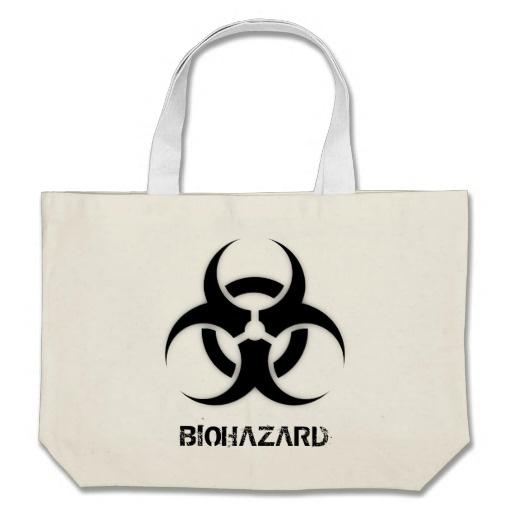Biohazard Customizable Canvas Bag