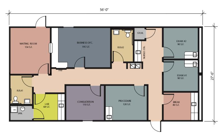 Small medical office floor plan simspo pinterest for Two story office building plans