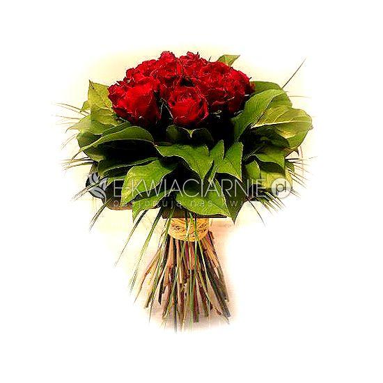 """Bukiet róż dla Ukochanej osoby w Walentynki.  Wykonany przez """"Mobilną Kwiaciarnię"""""""