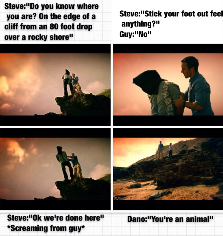 """Repin: #H50 Funny. From the episode """"The Fix"""". This is a collage I made. Lol. Steve is cruel."""