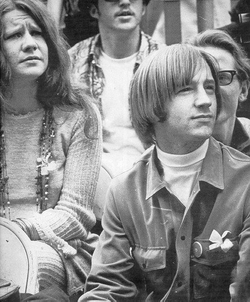Janis Joplin and Peter Tork at the Monterey Pop Festival, 1967.