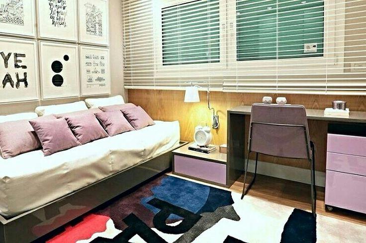 Inspiração ♡ #interiores #design #interiordesign #decor #decoração #decorlovers #archilovers #inspiration #ideias #dormitórioteen #bedroom #quartoteen #teenroom #quartodemenina #girlroom