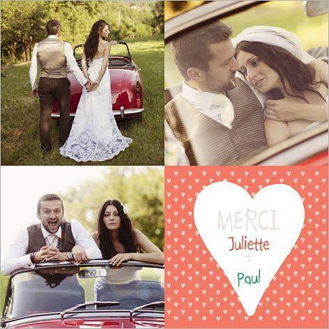 Carte de remerciements de mariage : Petits coeurs à personnaliser sur http://www.popcarte.com/cartes-flash/carte-remerciements/remerciements-mariage-2.html?color=5503