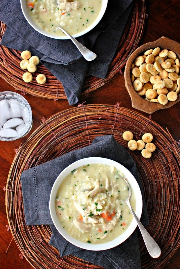Creamy Chicken and Lemon Rice Soup