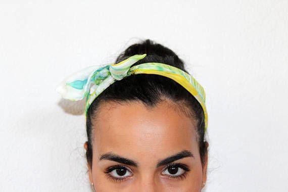 bandana pin up hand-dyed silk/silk scarf/silk
