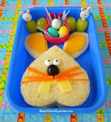 Bento School Lunches: Happy #Easter Bento Lunch : #Bunny Bento