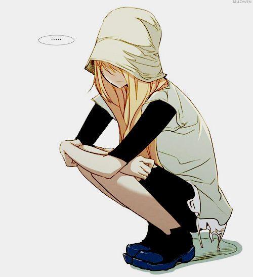 manga girls | alone, anime, anime girl, art, black, blond, cap, cute, cute girl ...