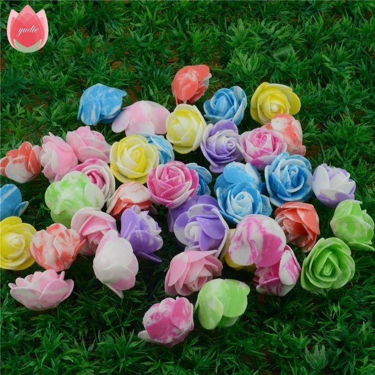 20 шт./лот 2.5 см дешевые пена пятнистый мини искусственный цветок розы начальник свадебный автомобиль день DIY венок -