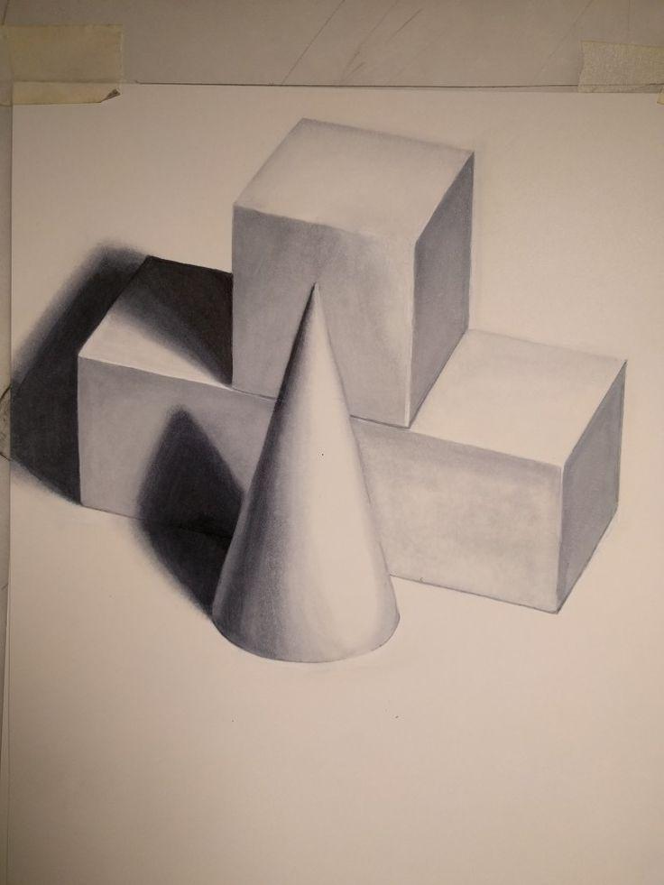 Basic shapes - Copic marker
