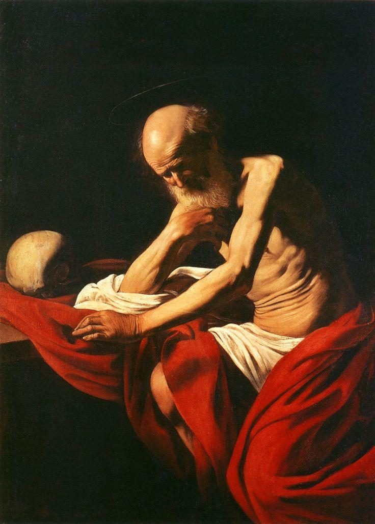 Pictures by Caravaggio | jerome-in-meditation-caravaggio