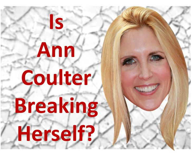 """Ann Coulter betrays a friend, lashes out at her former love Chris Christie, and lies about a firend's sister dying from ObamaCare. What is wrong with Coulter? See """"Ann Coulter Breaking Herself?"""" at www.coulterwatch.com/files/broken.pdf. See also Never Trust Ann Coulter - at ANY Age, at www.coulterwatch.com/never.pdf concerning why she remains someone we cannot trust!"""