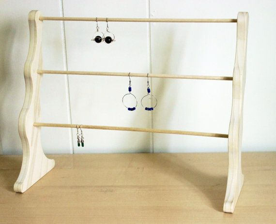 Wooden display earring rack wood earring by KaterinaCollection