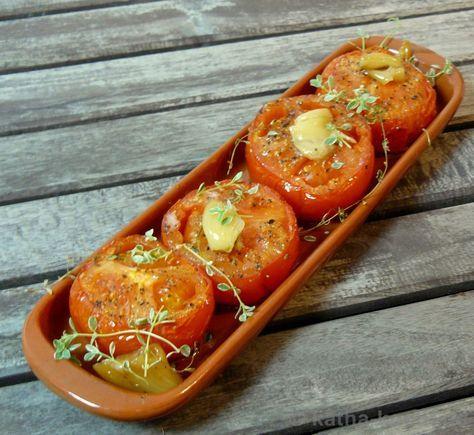 Tapas - gebackene Knoblauch-Tomaten - Katha-kocht!