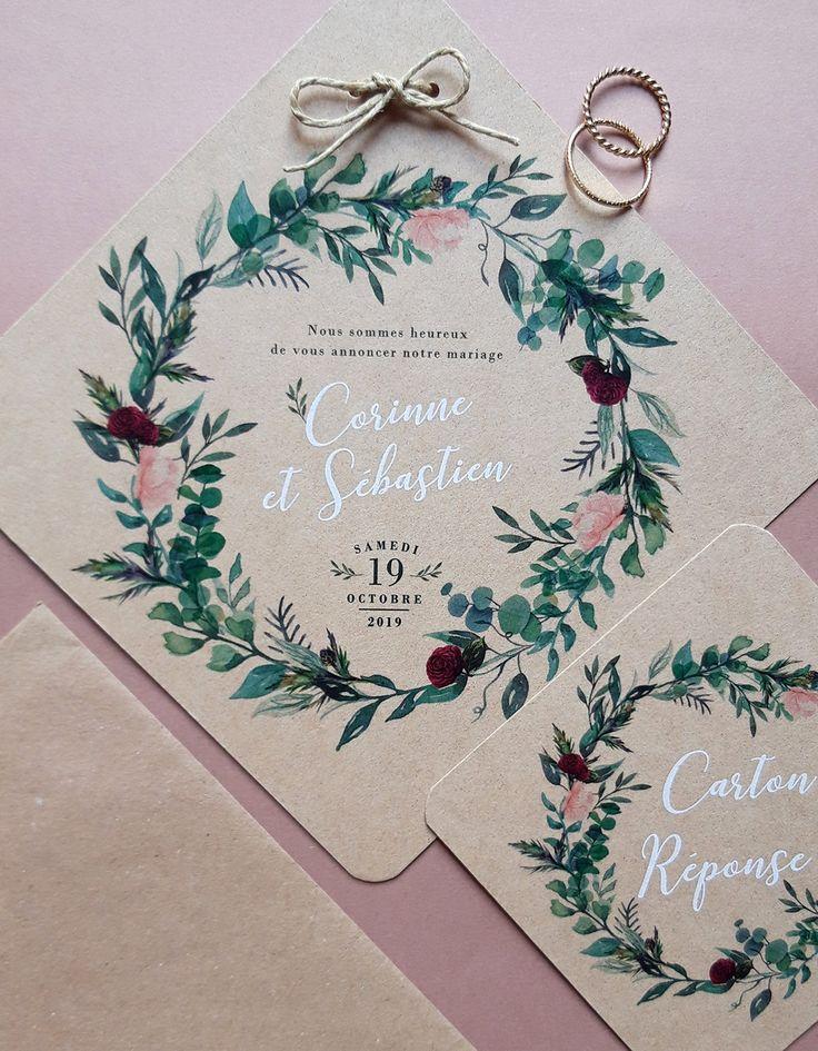 Faire half couronne de fleurs rose et burgundy