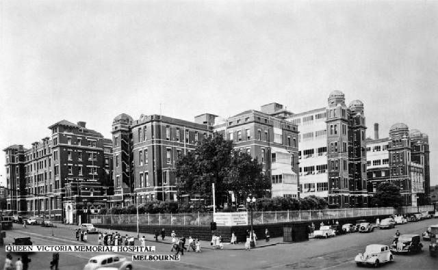 Queen Vic Hospital, Lonsdale Street from Swanston to Russell Sts. What a great hospital it was.