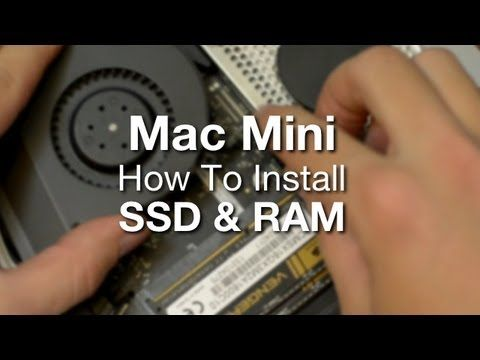Beast Mac Mini Build 2013 (Part 3) How To Install A SSD & RAM In A Mac Mini