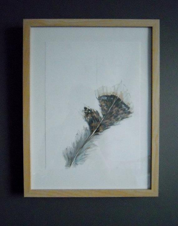 Wild Turkey 02  Original Watercolour Painting by TurnOfPhrase, $60.00