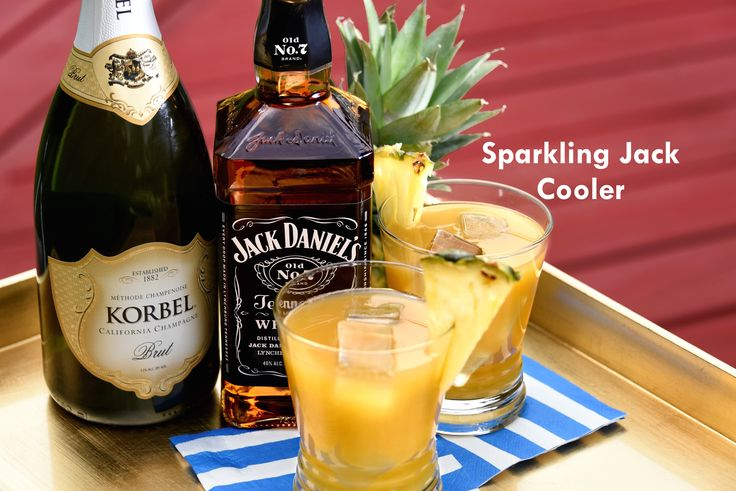 Toast the 4th of July with two American icons: Jack Daniel's and KORBEL California Champagne. The Sparkling Jack Cooler is the perfect summer sipper with bright citrus, hints of oak and sparkling bubbles. Recipe: www.korbel.com