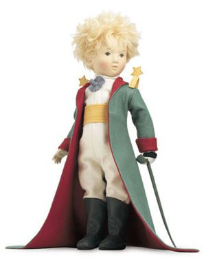 """The Little Prince Grand Tour Doll, 2000, 23"""" molded felt, fully jointed.  R. John Wright Dolls, Inc."""