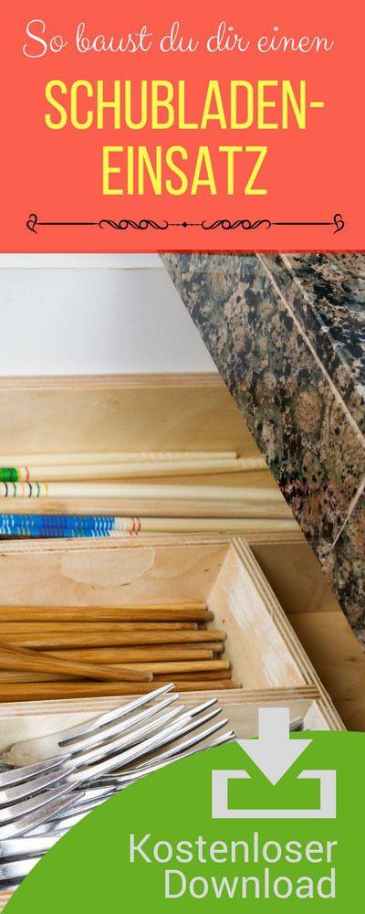 Checklisten Besteckkasten für Schublade selbst bauen. Bauanleitung Einsatz Besteckschublade.