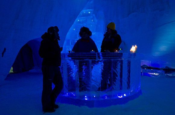 The Kirkenes Snowhotel in Norway offers northern lights wakeup calls!