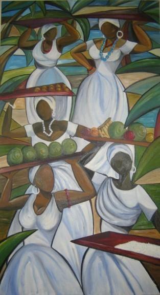 BAHIANAS - Pintura,  60x110 cm ©2004 por Denise Helena Ckless -
