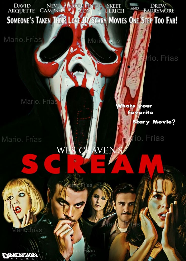 Scream 1996 Wes Craven Horror Movie Slasher Fan Made Edit By Mario. Frías