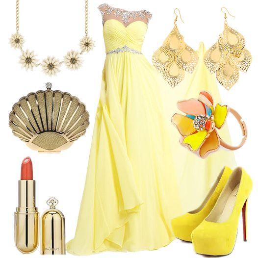 A-line Bateau Sleeveless Chiffon Prom Dresses With Beaded, Daffodil Dresses, prom dress online cheap buy