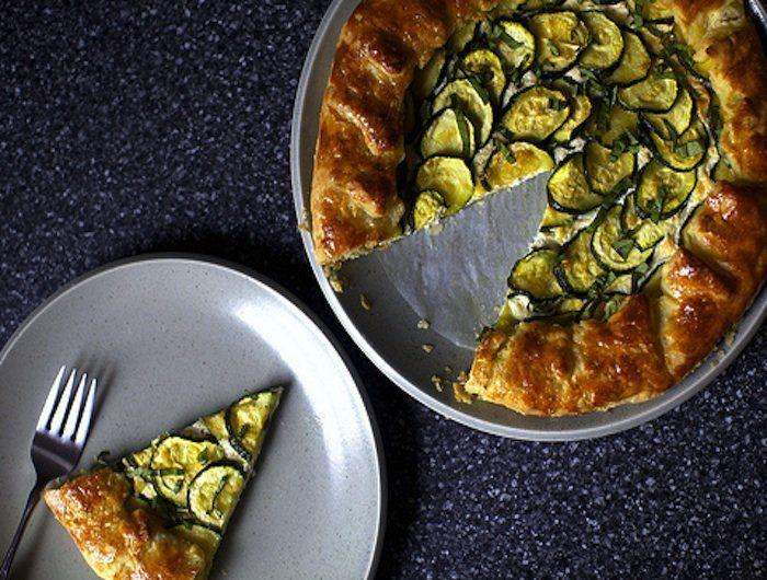 Zucchini and Ricotta Galette | Food | Pinterest