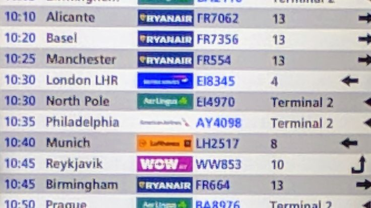 "A flight from Dublin this morning is going to ""The North Pole""."