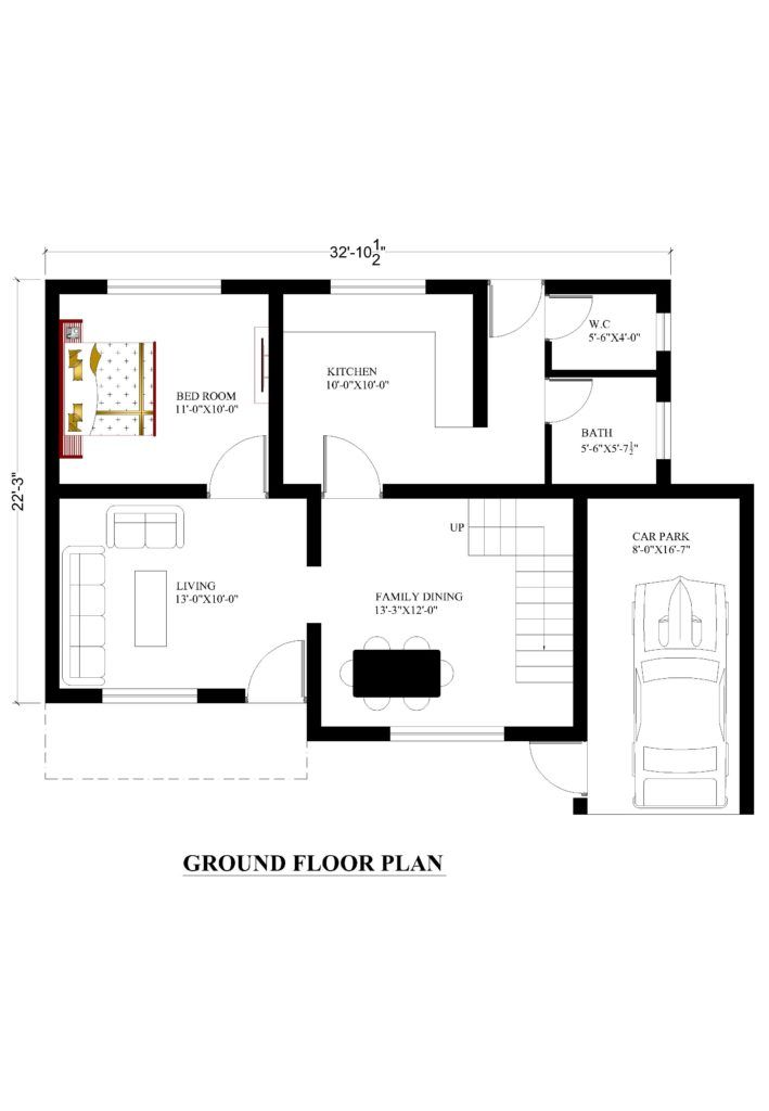 32x22 House Plans For Your Dream House House Plans House Plans How To Plan Ground Floor Plan