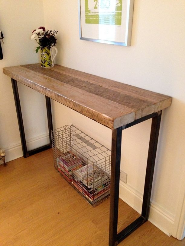 Industrial Mill Reclaimed Wood Breakfast Bar/Console Table in Home, Furniture & DIY, Furniture, Stools & Breakfast Bars | eBay!