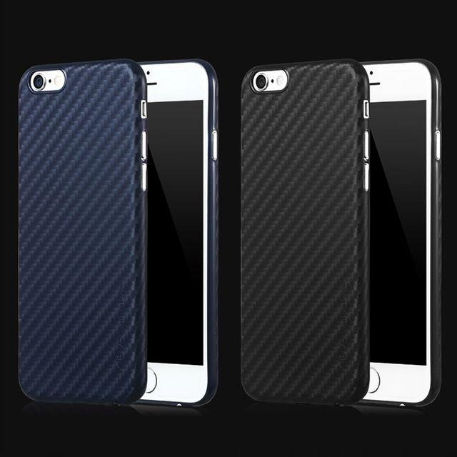 Dunne mode imitatie koolstofvezel textuur beschermhoes voor Apple iPhone 6 s PP materiaal cover voor iPhone6 4.7 inch