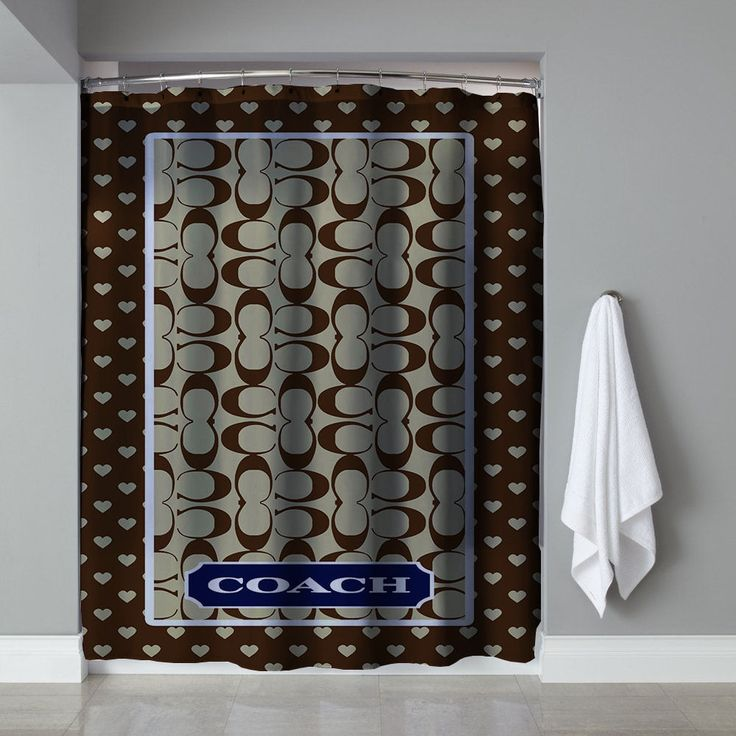 """Rare Brown Coach Custom High Quality Shower Curtain 60""""x72"""" Limited Edition  