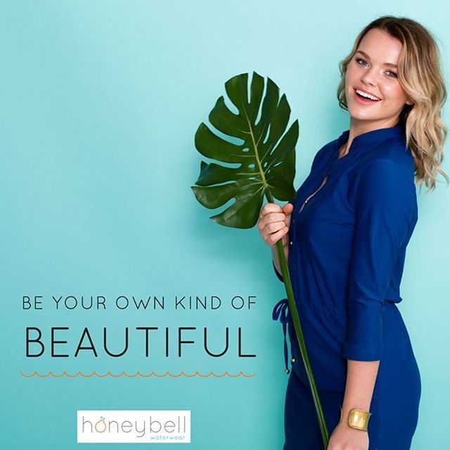 There is no one else like you, you are truely uniquely beautiful xoxo   Honeybell Waterwear navy shirt dress with UPF 50+ sun protection.