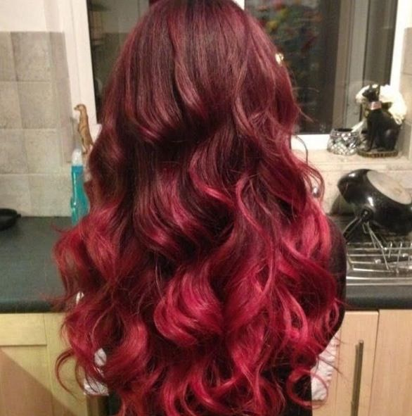 Red ombre/balayage | Hair Up-dos | Pinterest | Balayage ... Brown Hair With Red Tips Tumblr