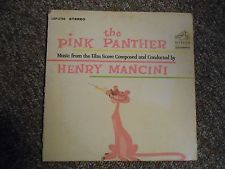 Vintage RCA Victor Record Album The Pink Panther Henry Mancini 1963 Film Score