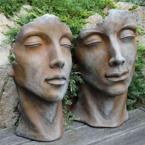 Gesicht Frau Skulptur S rost-A058482.001-01 – Eldan