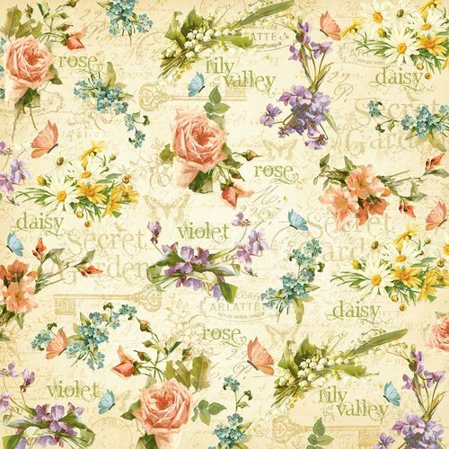 """""""Beautiful Blooms"""" front page from our new collection Secret Garden. In stores February! #graphic45 #CHAW2013 #CHAshow #sneakpeeks"""