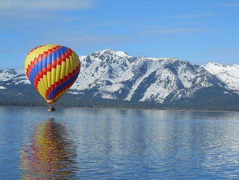Hot Air Ballooning over Lake Tahoe, California!