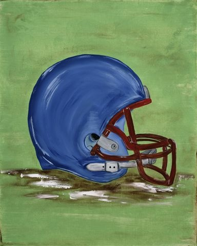 William's Football Helmet 16x20 Canvas Wall Art. On Sale NOW for $70.  Can be personalized.  Visit www.artbybeckieann.com