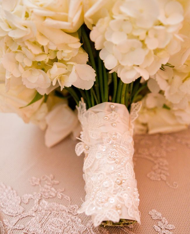 Lace! Do I need to say any more? Bouquet Wraps That Wow   Photo: Thisbe Grace Photography   Blog.TheKnot.com