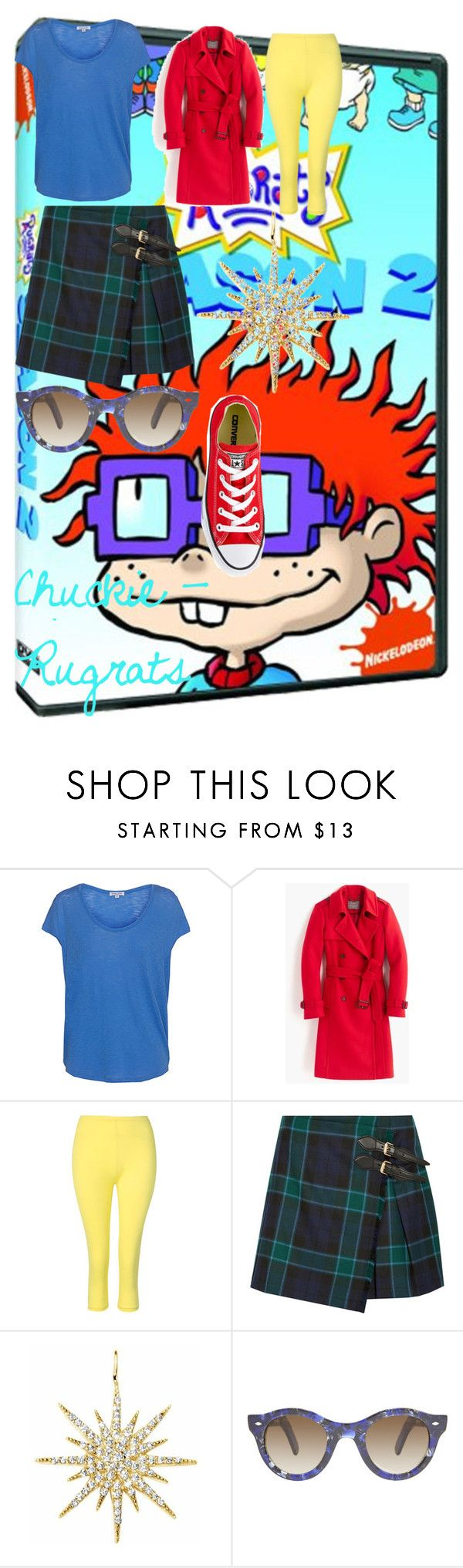 """Chuckie - Rugrats"" by oroartye-1 on Polyvore featuring Splendid, J.Crew, Burberry, Talia Naomi, Cutler and Gross and Converse"