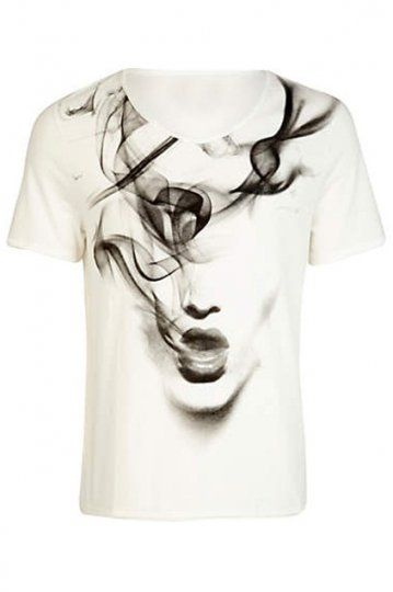 Smoking Girl White T-shirt