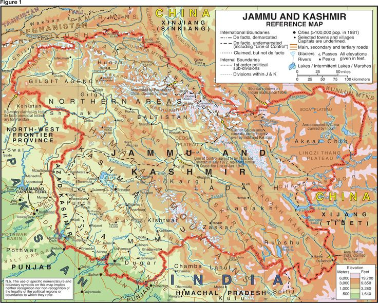 map of Kashmir