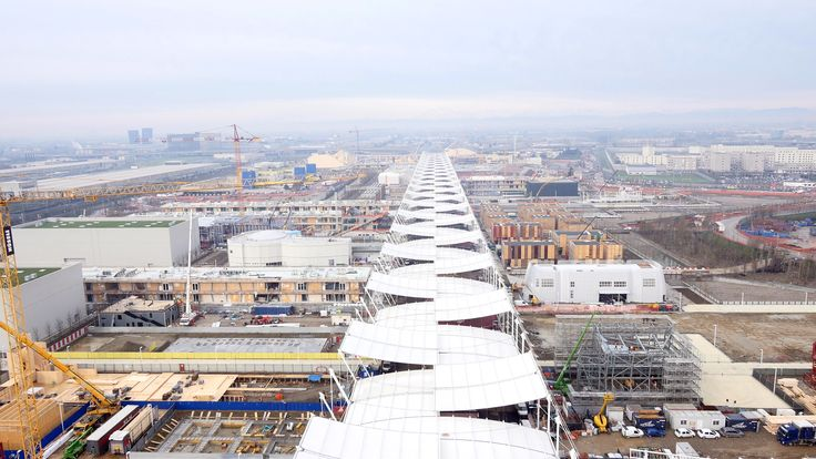 Belvedere in città 22.12.2014 by @Expo2015Milano with #tim4expo #Expo2015 #Drone #constructionsite #milan